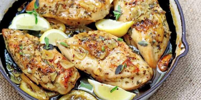 Sticky Lemon and Oregano Chicken Breasts
