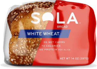 White Wheat SOLA Bread flat