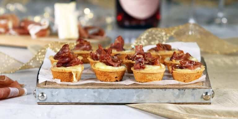Melty Brie & Prosciutto Tartlets