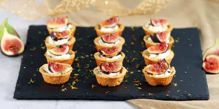 Goat cheese & Fig Tartlets