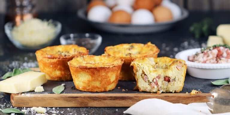 Smoked Bacon and Gruyere Mini Quiches