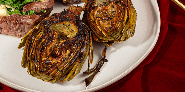 Fire Grilled Artichoke with a Remoulade Sauce