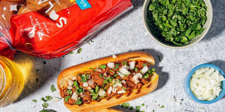 Low-Carb Chorizo Chili Dogs