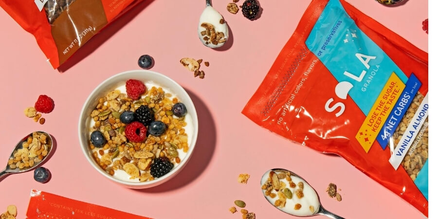 sola low carb keto friendly granola for the plant based lifestyle