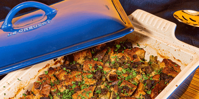 Low-Carb Sausage and Herb Stuffing
